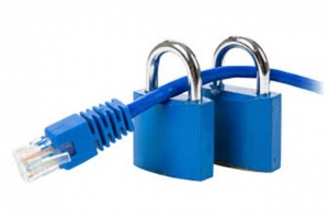 Locked UPT internet cable
